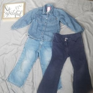 3 piece girls size 4t outfit